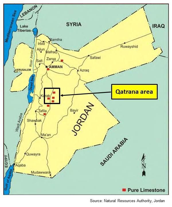 Jordan limestone map