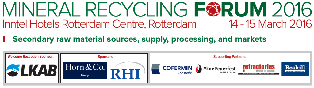 MinRecycling logo + sponsors
