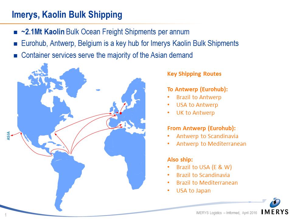Imerys, Kaolin Bulk Shipping