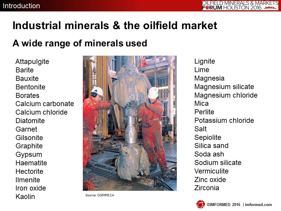 Oilfield minerals