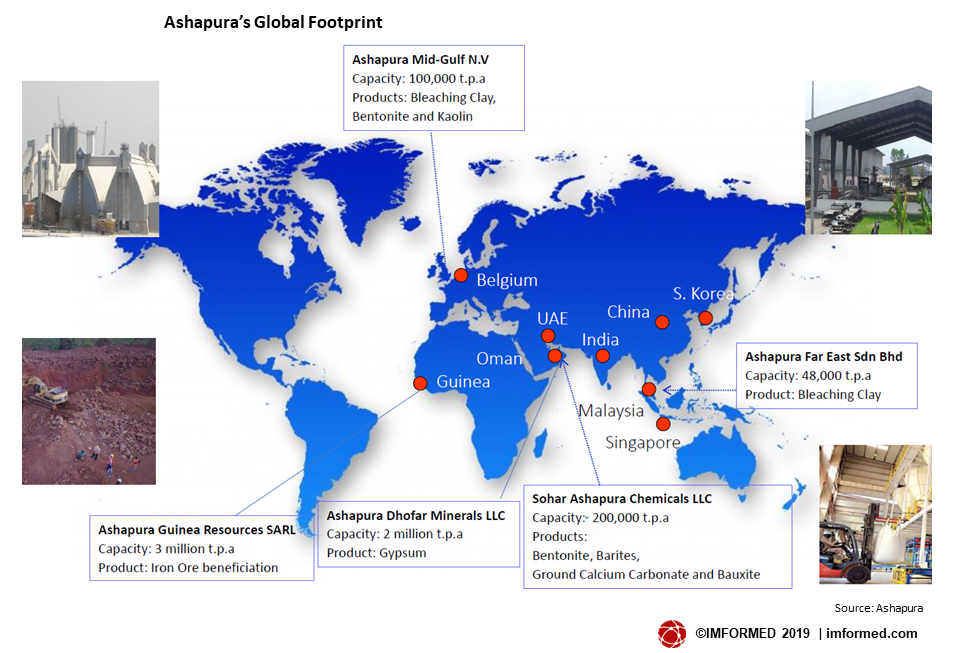Ashapura Global footprint