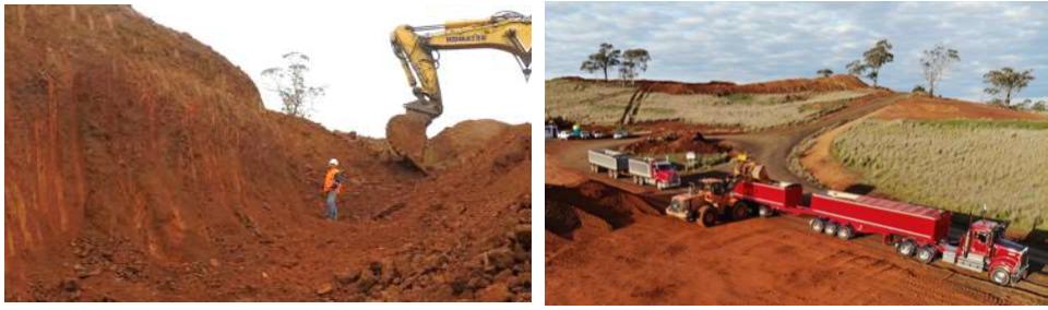 ABX Mine and trucks